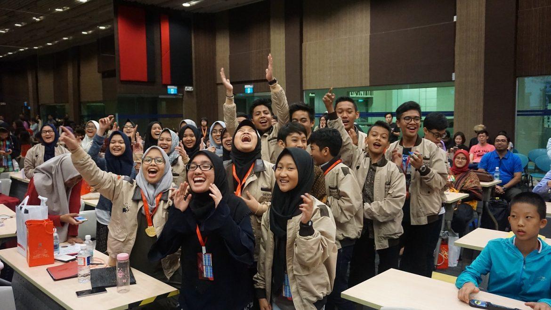 Tim Indonesia bersuka cita